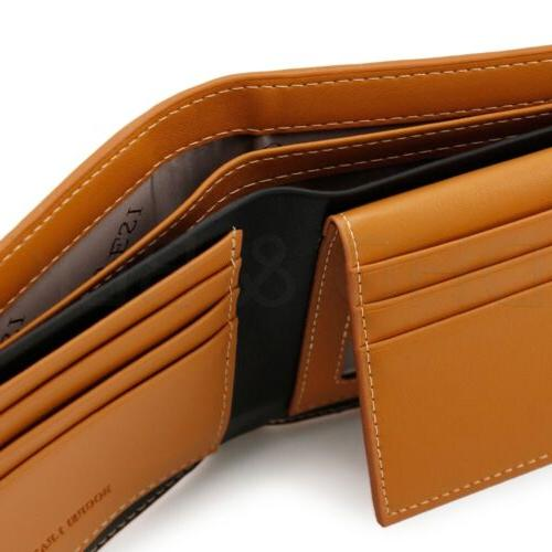 Men's Bifold Card Holder Purse Billfold Slim Clutch