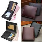 Men's Leather Credit Card Holder Wallet Bifold ID Cash Coin