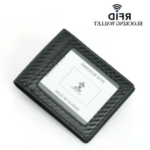 Men's Carbon Fiber Card Holder Wallet