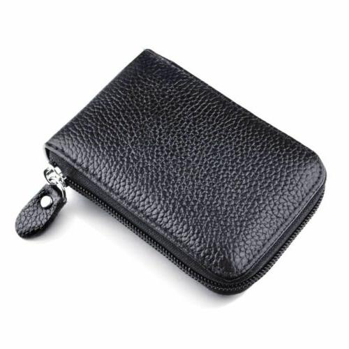 Men's Leather Card Wallet RFID Blocking