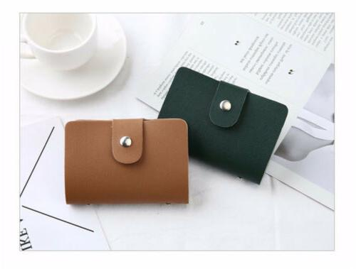 Men's Women's Pocket Card Slot Holder Case Wallet