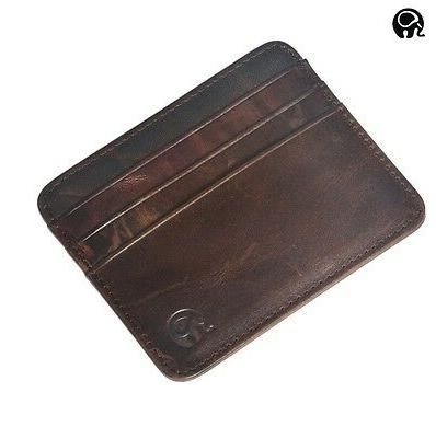 men s womens real leather small id