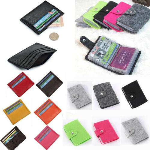Men ID Credit Cards Thin Wallet