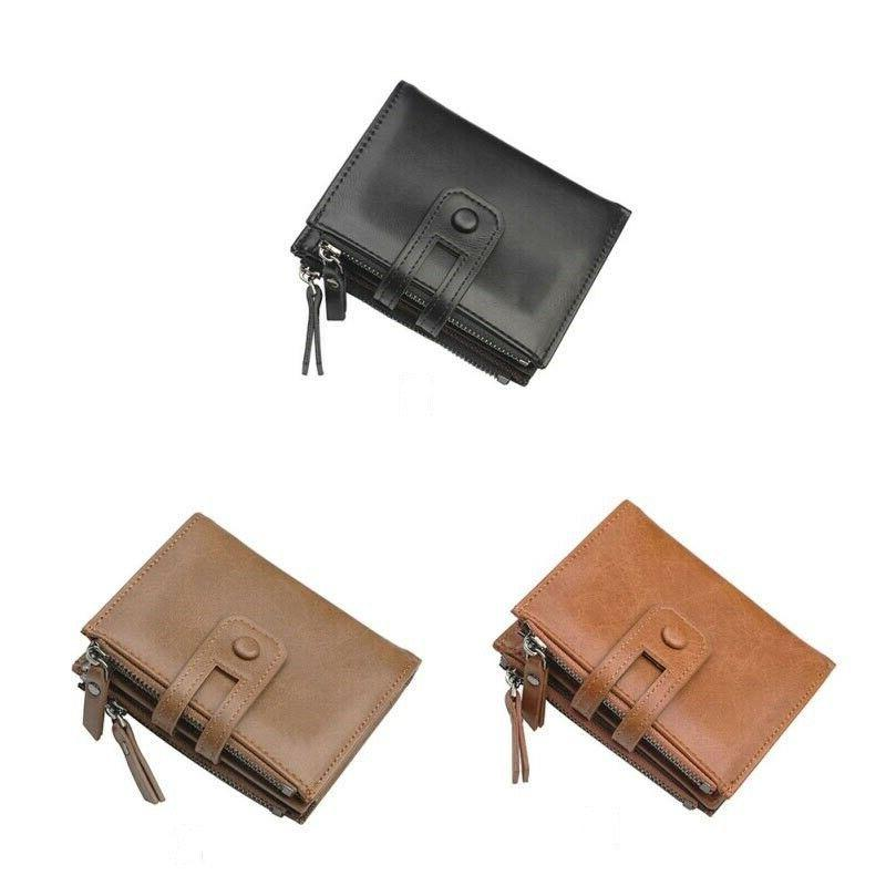 Mens Leather RFID ID Credit Card Holder Tag New