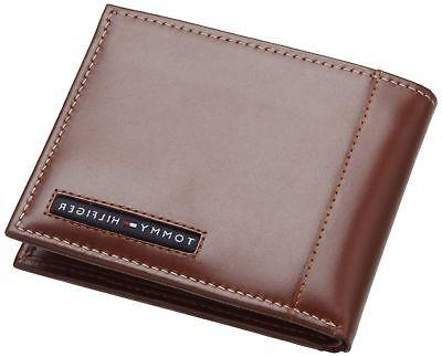 mens leather cambridge passcase wallet with removable