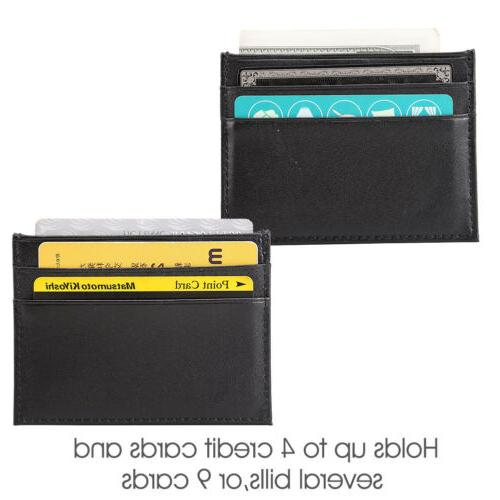Men's Slim Card Wallets ID Pocket Thin