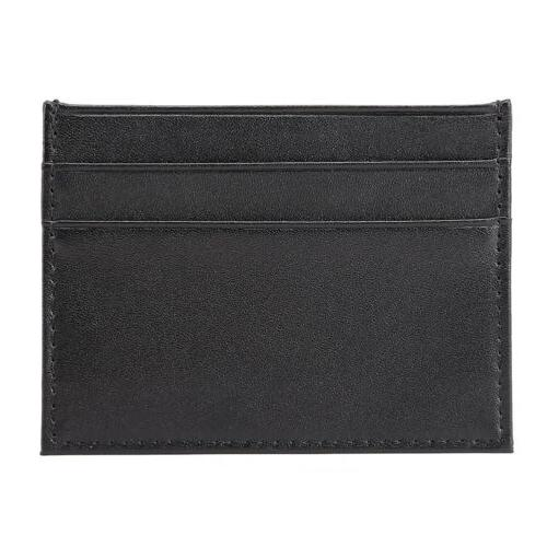Men's Leather Slim Wallet Card Front Pocket Wallets Thin