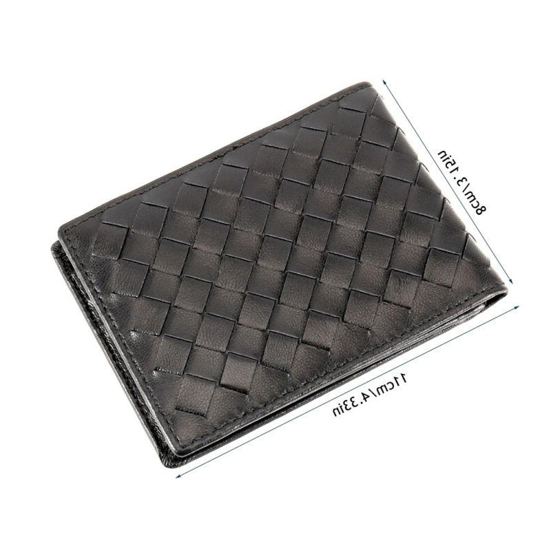 Mens Soft Leather ID Wallet Credit Card Business Purse