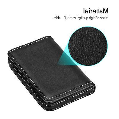 Mens ID Credit Card Case Wallet w/ Shut