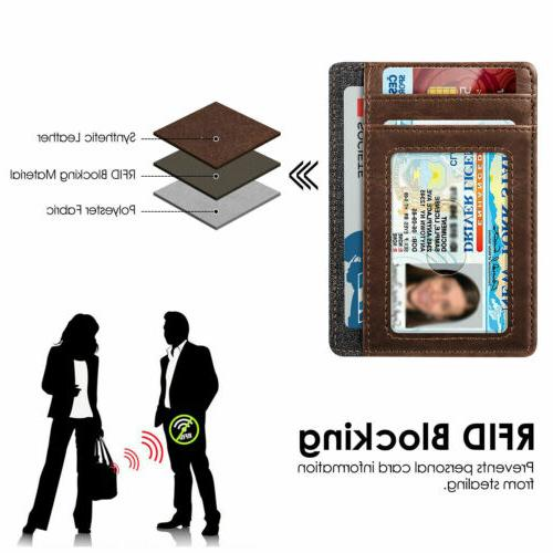 Mens Slim Wallet Credit Card Slots Holder
