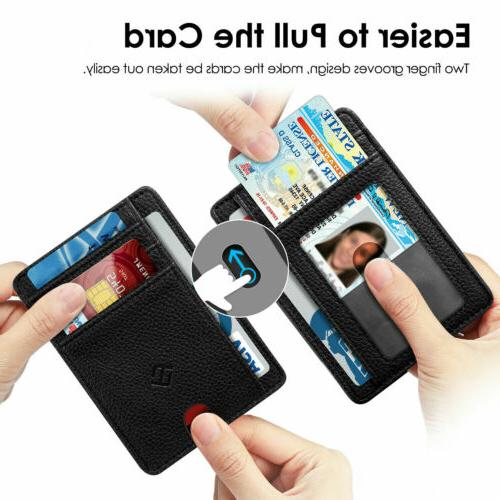 Mens RFID Slim Wallet Clip Credit Holder