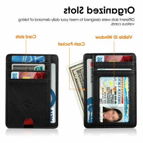 Mens RFID Slim Clip Credit Holder