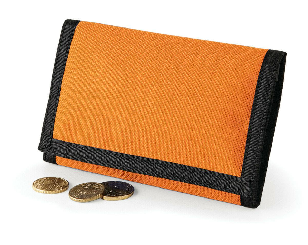 Mens Tri-fold Boys Velcro Travel Purse Coin Card
