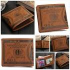 OURBAG Mens US $100 Dollar Bill Leather Bifold Card Holder W