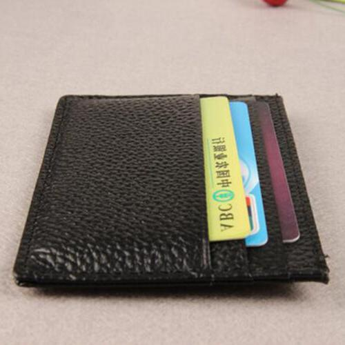 Mens Womens Credit Purse Leather Pocket