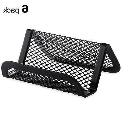 MaxGear Mesh Business Card Holder Metal Business Card Stand