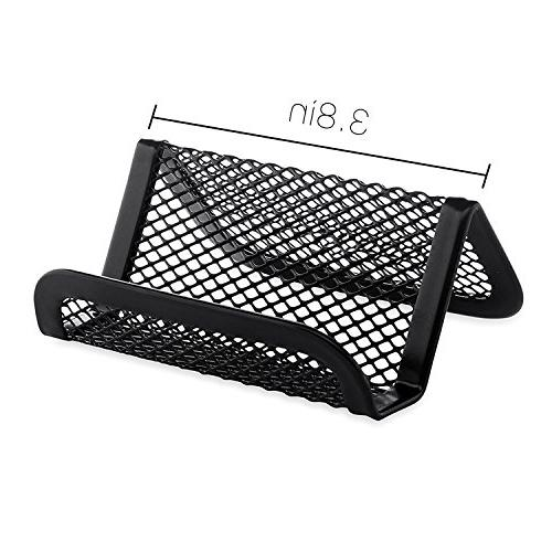 MaxGear Business Card for Desk Office Card Holders Mesh Organizer Cards, Black Card Display,