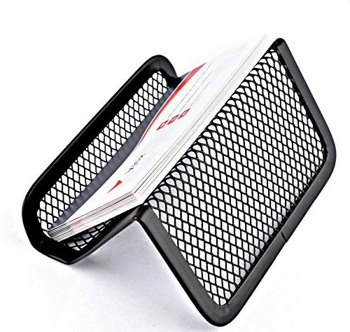 MaxGear Card Holder for Office Card Holders Mesh Collection Organizer Name Cards, Mesh Card