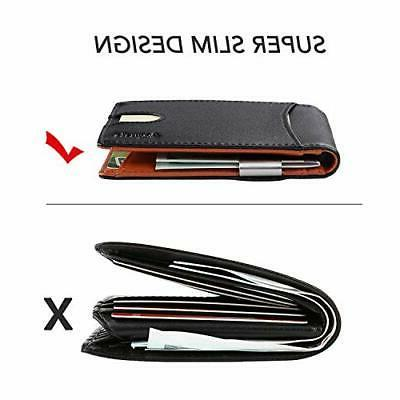 Money Front Wallet Wallets for men RFID Holder