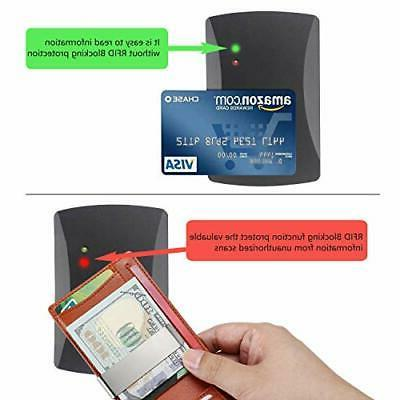 Money Clip Front Wallet for men RFID Blocking Card Holder
