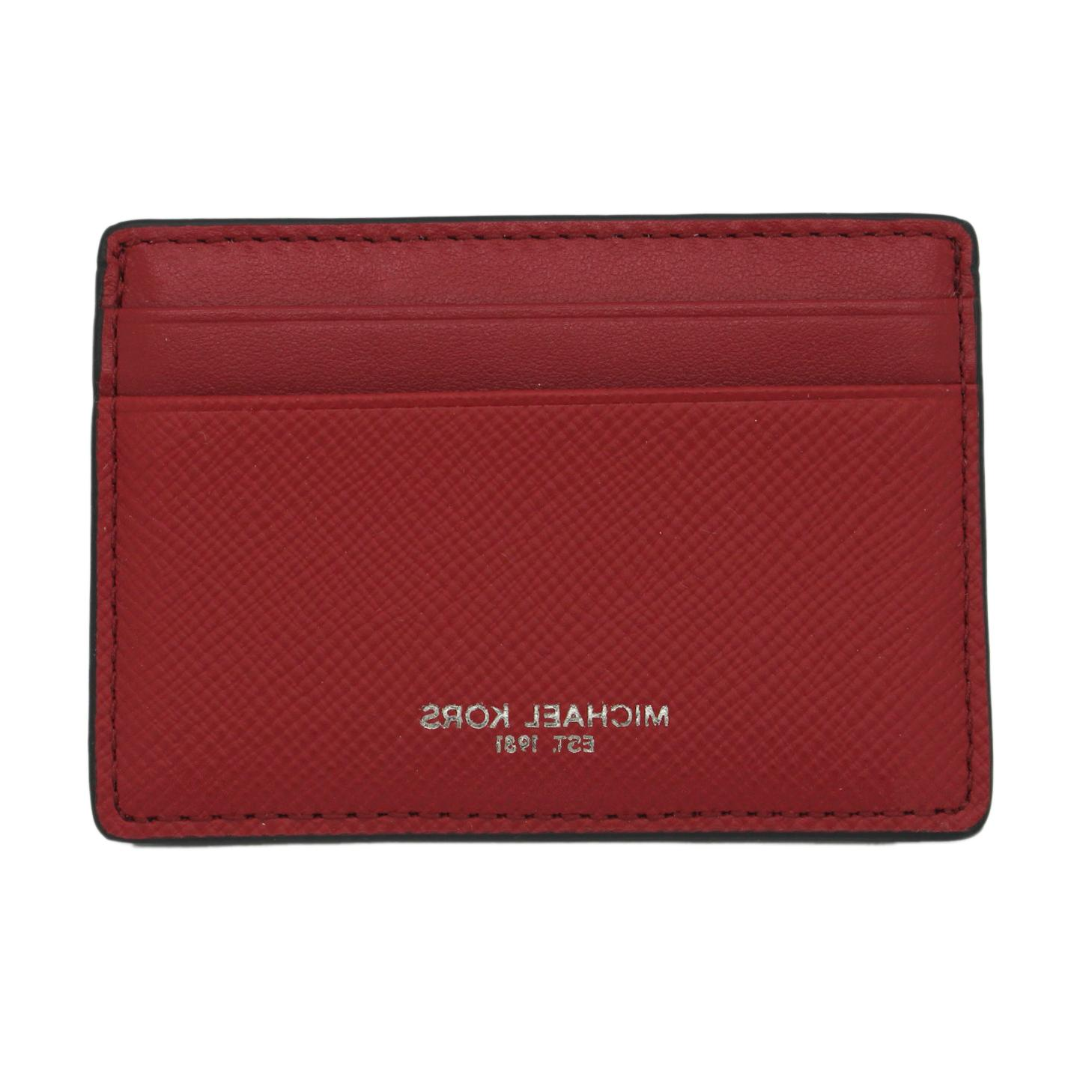 money pieces leather card holder red 48