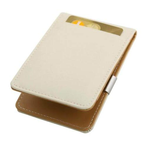 MW1001 Brown Beige Synthetic Leather Wallet Money Clip Credi
