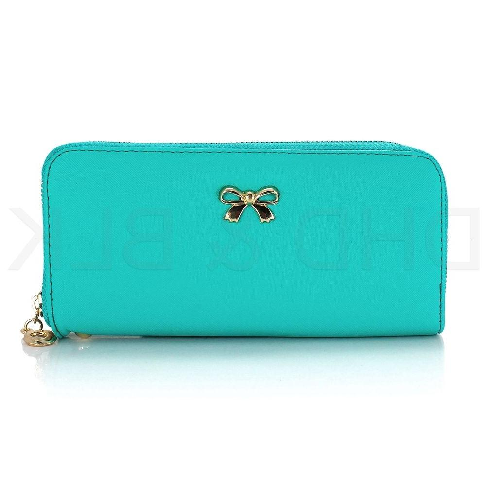 New Lady Women Leather Long Card Case