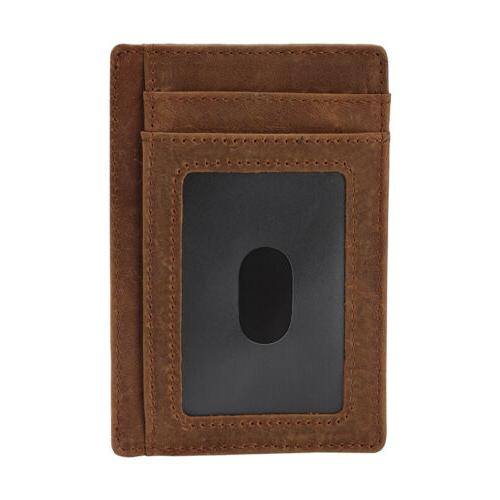 New Genuine Slim Card Holder Wallets For Men - RFID Blocking