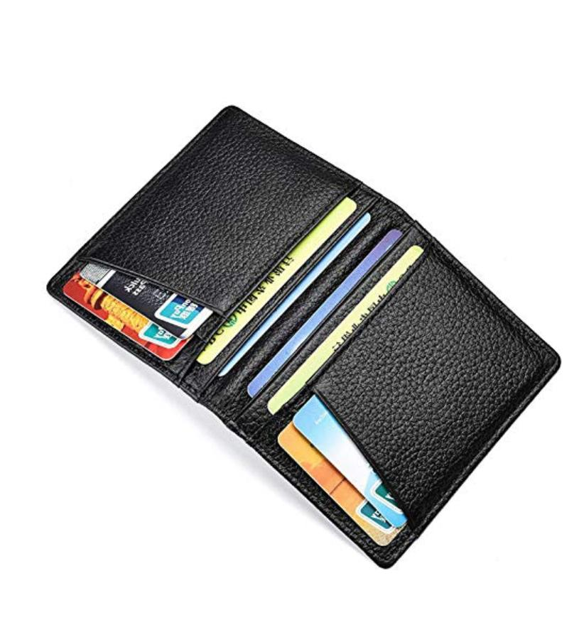 New Leather Slim Card Blocking