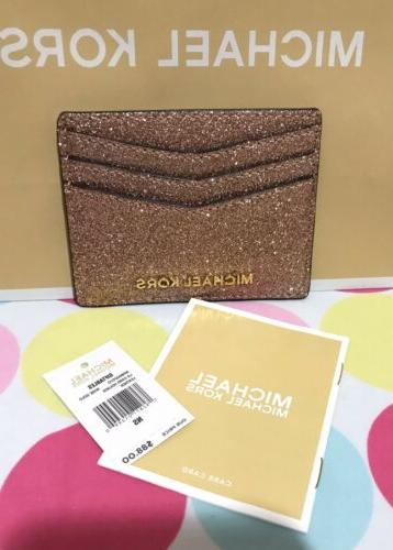 new giftables lg card holder leather glitter