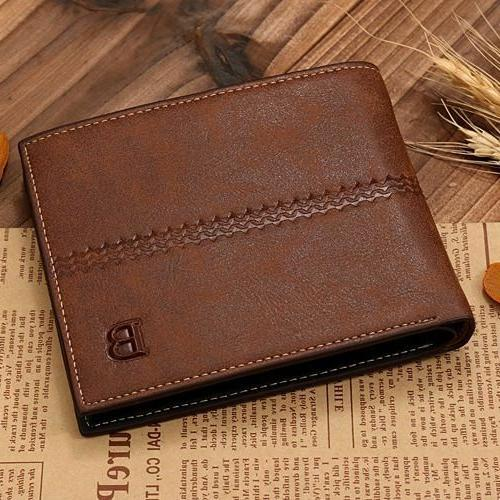 New Men's ID Card Wallet Billfold Handbag Clutch