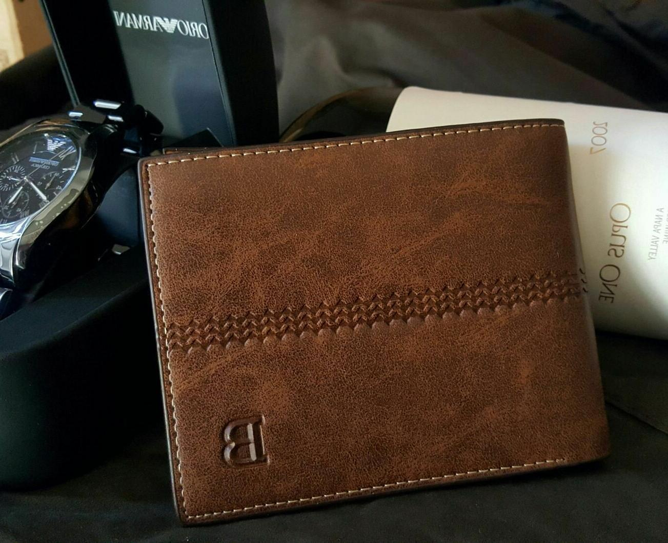 New Leather ID Wallet Billfold