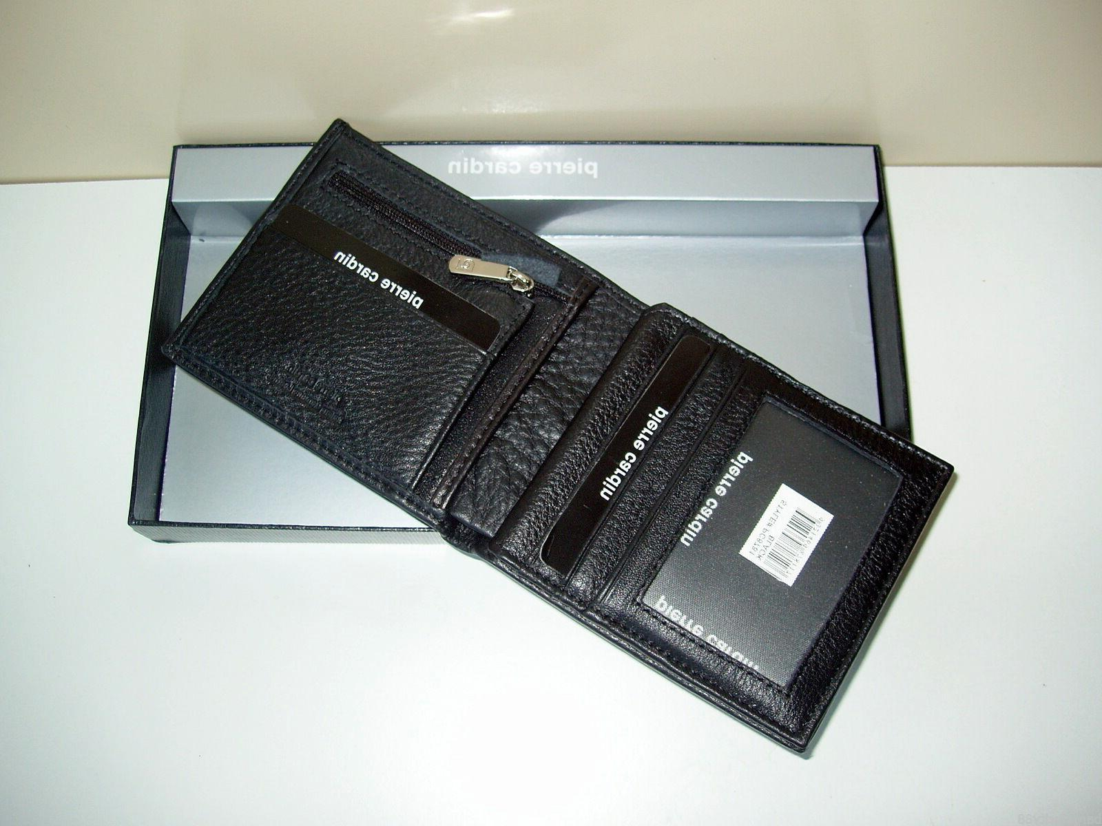 New PIERRE CARDIN Genuine Leather Card Holder+Gift