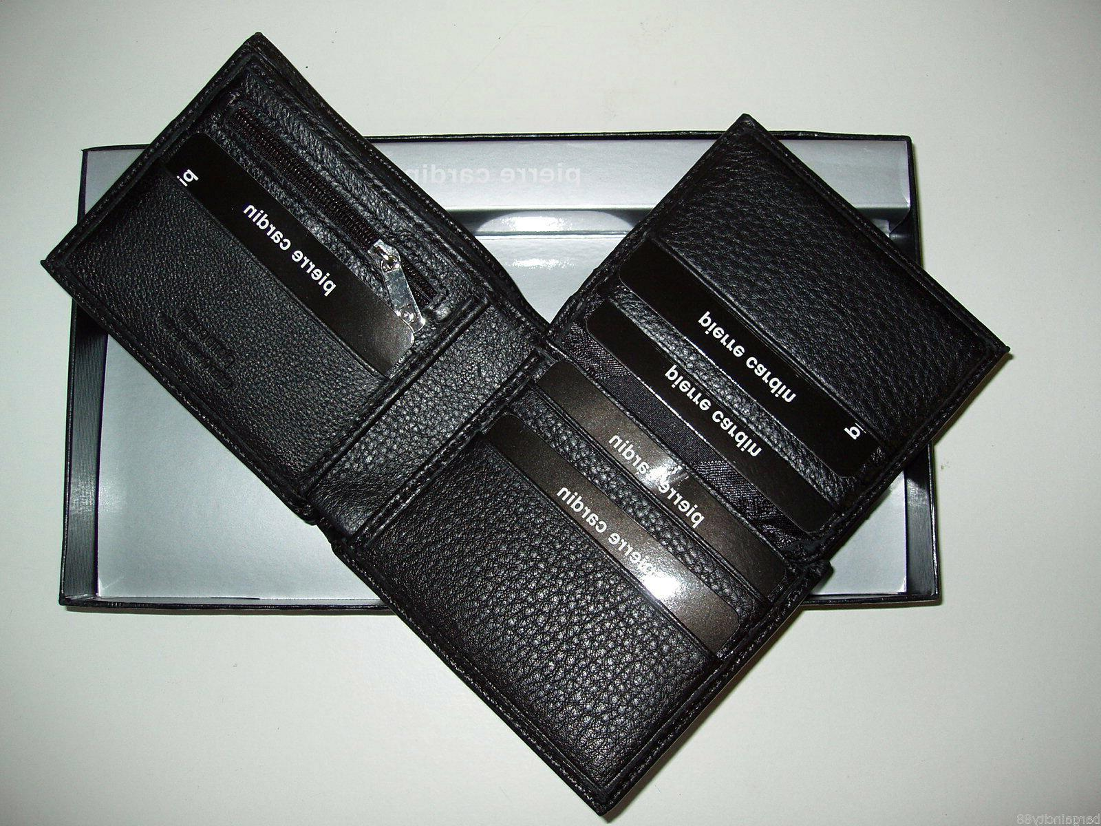 New Leather Mens Card Holder+Gift Box 4 Styles