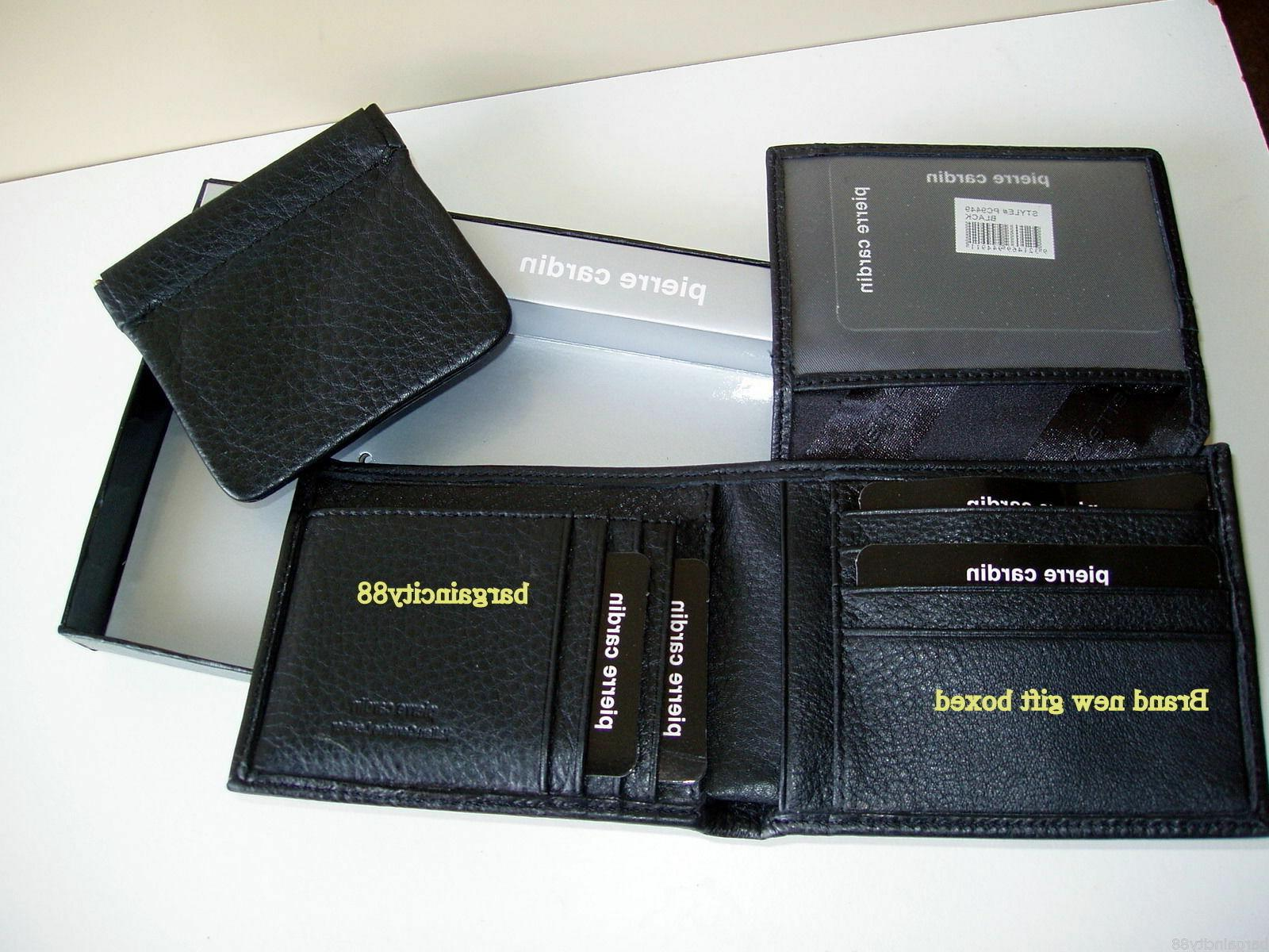 New PIERRE Leather Wallet Card Box Styles