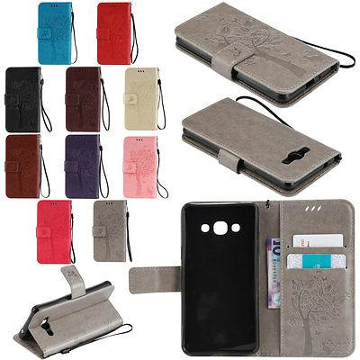 New PU Leather Phone Case Cover Wallet Card Holder For Samsu