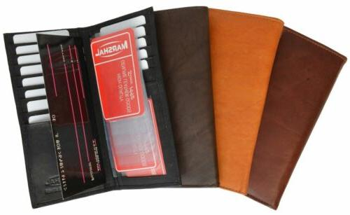 New Tall Card Holder Leather Wallet by Marshal