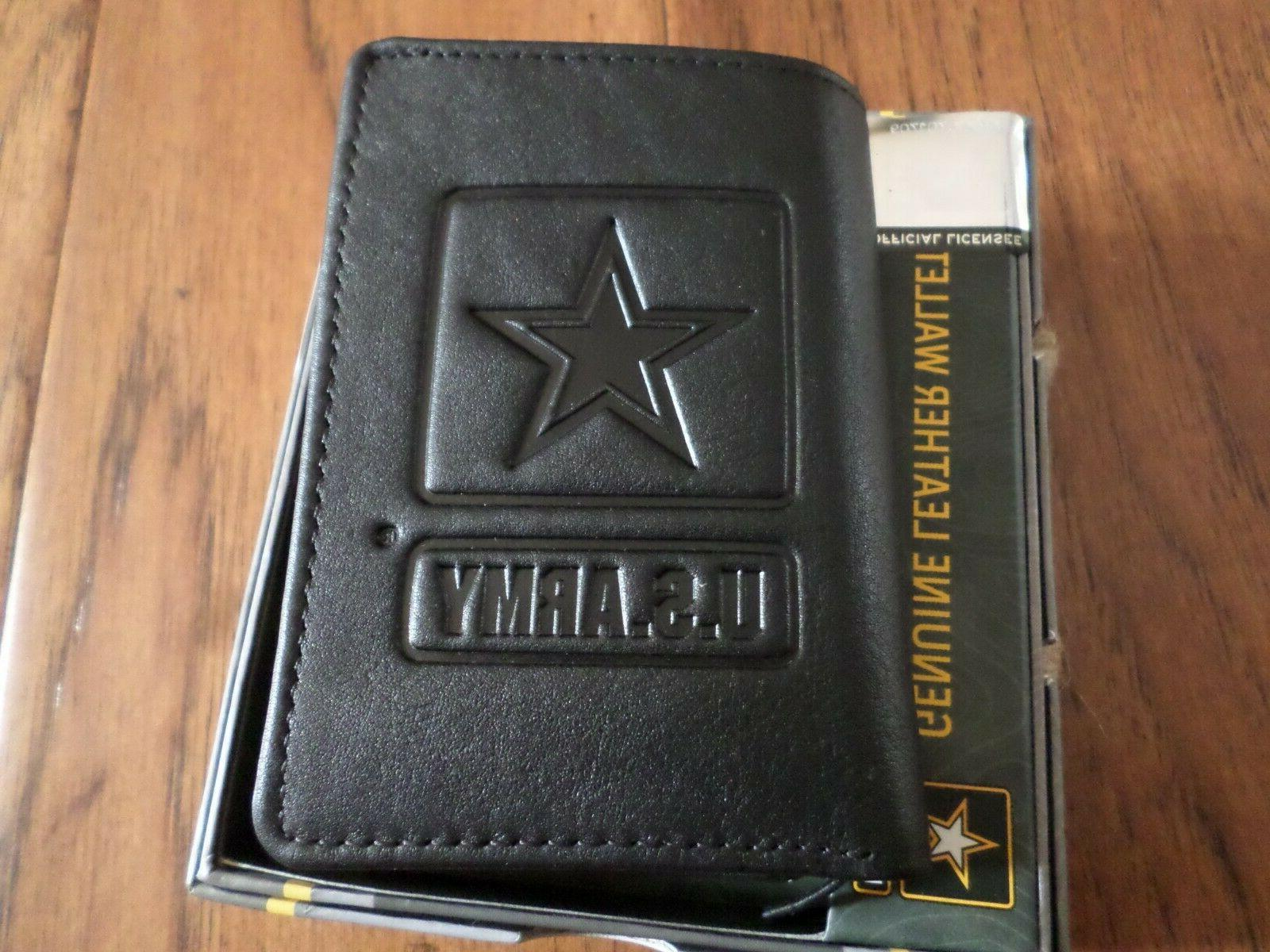 new u s army leather trifold wallet