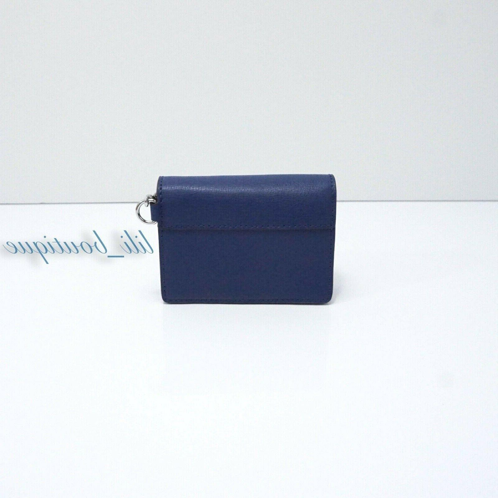 NWT Michael Kinsley Holder Leather Sapphire Blue