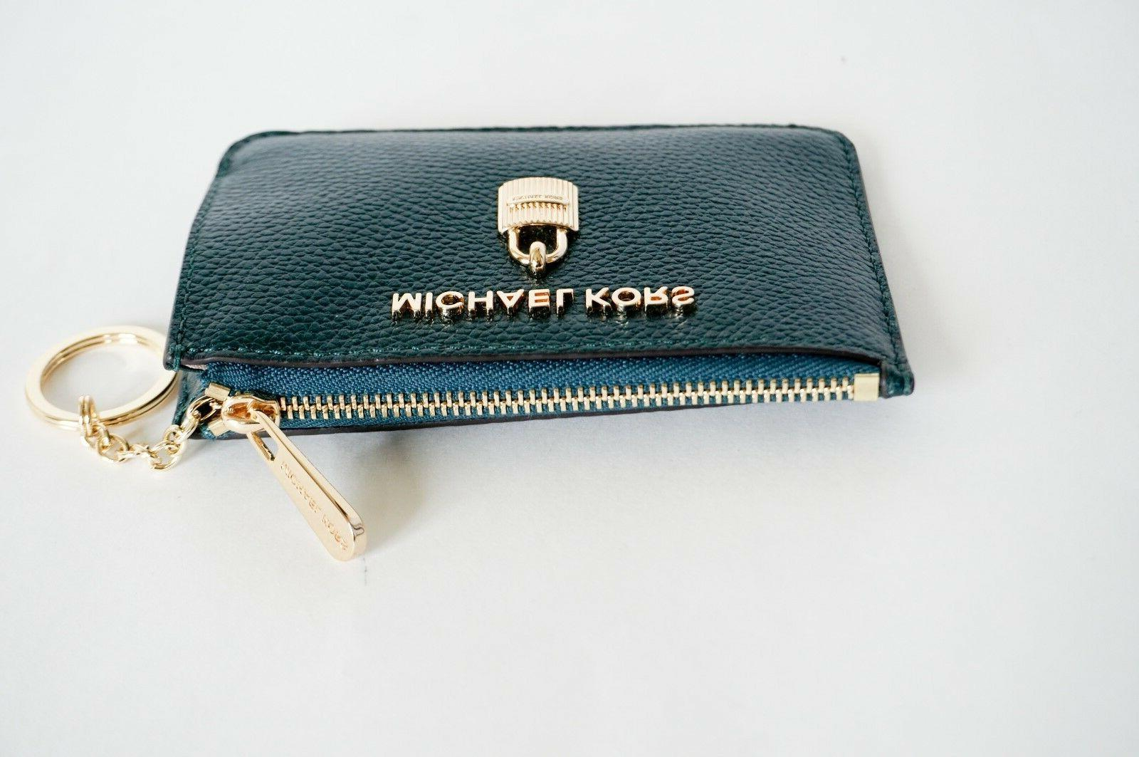 NWT MICHAEL TOP ZIP COINPOUCH ID KEY HOLDER