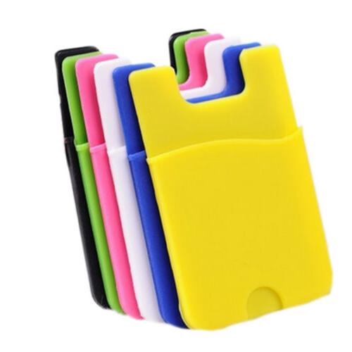 Plastic Adhesive Sticker Pouch Wallet Credit Card Holder Sle