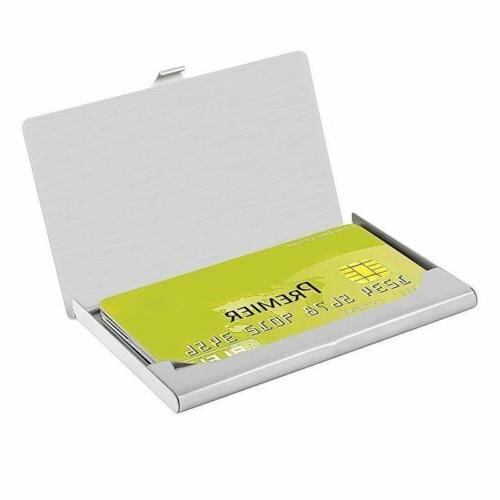 Pocket Stainless Metal Case Wallet Silver