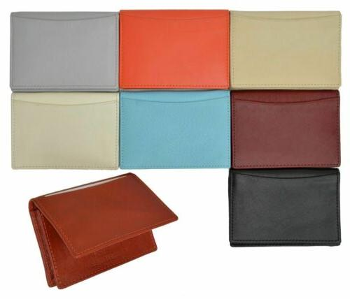 premium leather expandable card holder with id