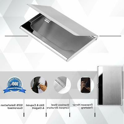 MaxGear Professional Business Holder Business Stainless Card Holder