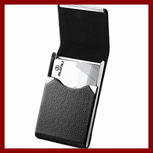 professional business card holder pu leather case