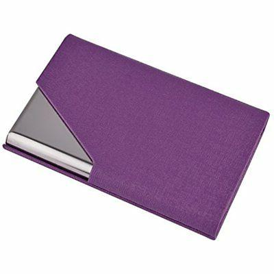 professional business card holder pu leather