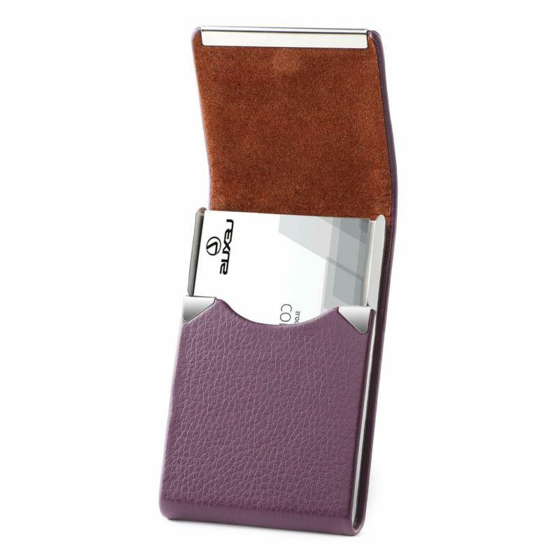 pu leather business card holder for women