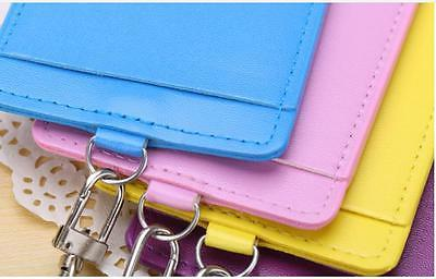 PU Leather Id Case Holder with Necklace GY
