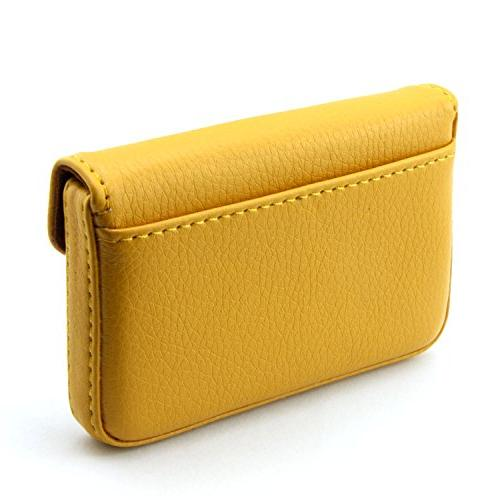 Partstock Multipurpose Business Name Wallet Credit ID Case Magnetic Shut.Perfect Yellow