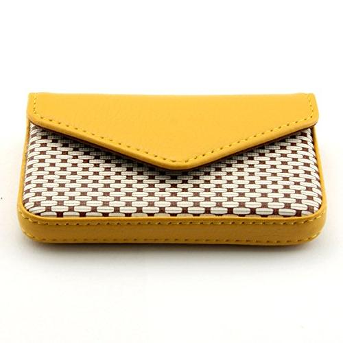 Partstock PU Wallet Credit card Magnetic Yellow